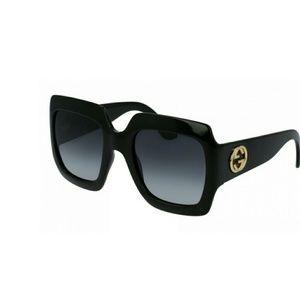 Black Gucci acetate  oversized sunglasses